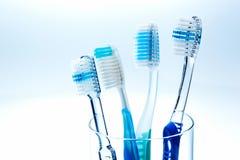 Brosses à dents de brossage de dents Images stock