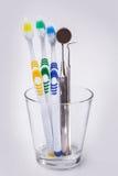 brosses à dents en verre Photos stock