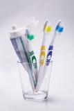 brosses à dents en verre Photo stock