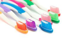 Brosses à dents multicolores Image libre de droits