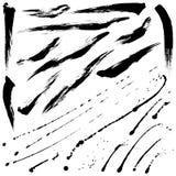 Brosses d'éclaboussure et courses de brosse Image stock