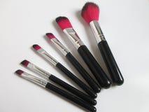 Brosses de maquillage Photographie stock libre de droits