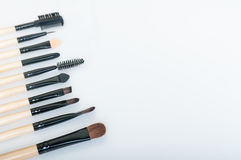 Brosses de maquillage photo stock