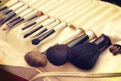 Brosses de maquillage Images libres de droits