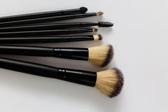 Brosses de maquillage photo stock