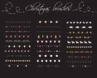 Brosses de modèle de Noël Image libre de droits
