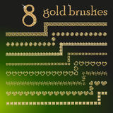 Brosses de scintillement d'or illustration libre de droits