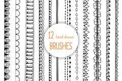 Brosses de style de griffonnage pour votre conception décorative créative Image stock