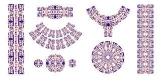 Brosses ethniques Copie ethnique africaine Le modèle aztèque Bande orientale de dentelle ind illustration de vecteur