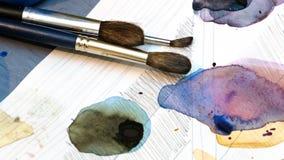 Brosses pour le dessin Images stock