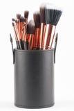 Brosses professionnelles de maquillage Photographie stock libre de droits
