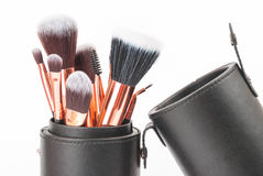Brosses professionnelles de maquillage Photographie stock