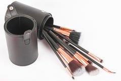 Brosses professionnelles de maquillage Photos stock