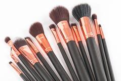 Brosses professionnelles de maquillage Photos libres de droits