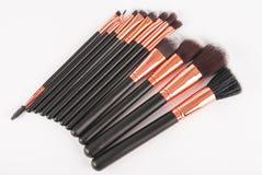 Brosses professionnelles de maquillage Photo stock