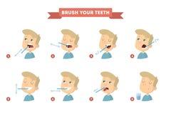 Brossez-vous les dents illustration de vecteur