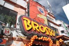 Brosso fast food restaurant sign in La Paz, Bolivi Stock Photos