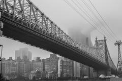 brostad New York arkivbilder