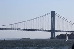 brostad New York Arkivbild