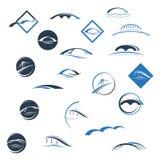 Brosymboler vektor illustrationer