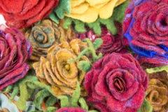 Broszka fulled wełna w postaci kwiatów Fotografia Royalty Free