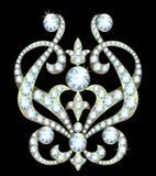 Broszka z diamentami Fotografia Royalty Free