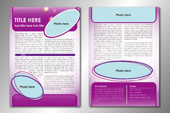 broszurka abstrakcjonistyczny szablon Zdjęcia Royalty Free