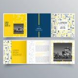 Broszurka projekt, broszurka szablon, kreatywnie trifold, trend broszurka ilustracja wektor