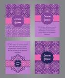 Broszurka projekt w rocznika ornamentacyjnym stylu Zdjęcie Stock