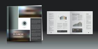 Broszurka, sprawozdanie roczne układ Obraz Royalty Free