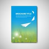 broszurka szablon Fotografia Royalty Free