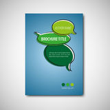broszurka szablon Obrazy Royalty Free