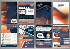 Broszurka szablonu pojęcia ikony i infographics Obraz Royalty Free
