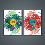 Broszurka szablonu układ, okładkowy projekt sprawozdanie roczne, książka, magazyn Obraz Royalty Free