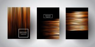 Broszurka szablony z abstrakcjonistycznymi niskimi poli- projektami Obraz Stock