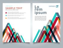 Broszurka układu projekta szablonu geometrycznych linii kolorowy nasunięcie ilustracja wektor