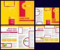 broszurki biznesowego ulotki fałdu szablonu biznesowy wektor Obraz Royalty Free