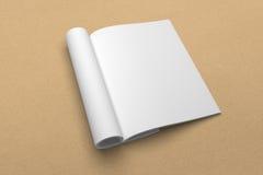 Broszurki 3D ilustracyjny mockup na przetwarzającej papierowej teksturze Żadny 2 Fotografia Stock