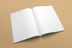 Broszurki 3D ilustracyjny mockup na przetwarzającej papierowej teksturze Żadny 3 Obrazy Stock