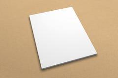 Broszurki 3D ilustracyjny mockup na przetwarzającej papierowej teksturze Żadny 4 Zdjęcia Stock
