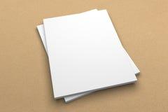 Broszurki 3D ilustracyjny mockup na przetwarzającej papierowej teksturze Żadny 5 Obraz Royalty Free