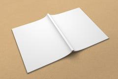 Broszurki 3D ilustracyjny mockup na przetwarzającej papierowej teksturze Żadny 6 Obraz Royalty Free