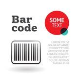 Broszurki lub strony szablon z barcode Fotografia Stock