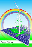 broszurki wizytówki pokrywy energii zieleń Obraz Royalty Free