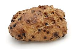 Brot über weißem Hintergrund Stockfoto