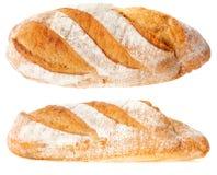 Brot auf einem weißen Hintergrund stockbilder