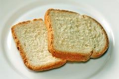Brot auf einer Platte Lizenzfreie Stockfotografie