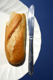 Brot auf Platte Lizenzfreie Stockfotografie
