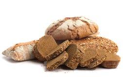 Brot auf Weiß Lizenzfreies Stockfoto