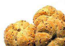 Brot auf Weiß Lizenzfreie Stockfotografie